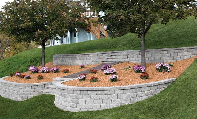 How to build retaining walls on slopes 10 simple steps - How to build a garden retaining wall ...