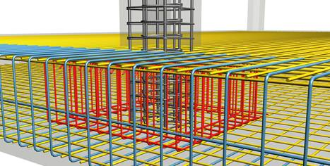 Raft foundation with punching shear reinforcement